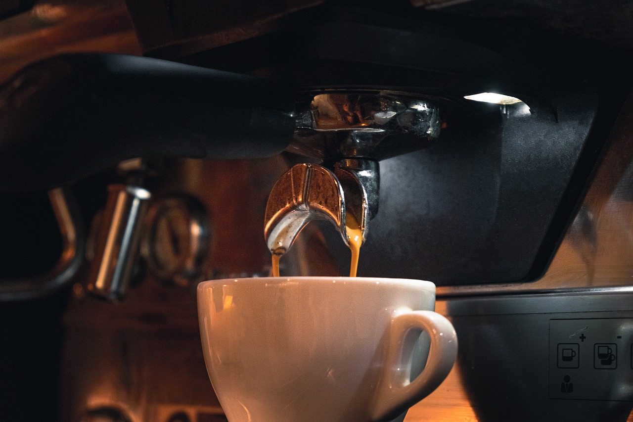 coffee, machine, cup